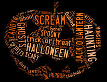 Word Cloud dealing with Halloween Royalty Free Stock Photos