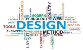 Word cloud - design Stock Photography