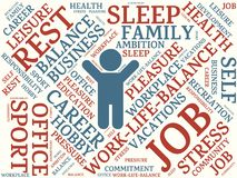 Word cloud different words assigned to work-life-balance vector illustration