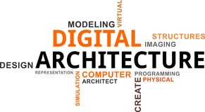 Word cloud - digital architecture Royalty Free Stock Photos