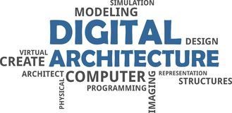 Word cloud - digital architecture Royalty Free Stock Images
