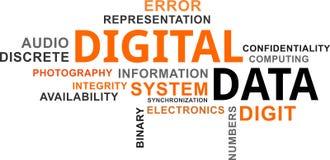 Word cloud - digital data Stock Photo