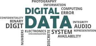 Word cloud - digital data Royalty Free Stock Photography