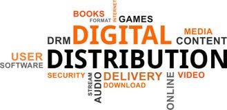 Word cloud - digital distribution Royalty Free Stock Image