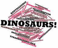 Word cloud for Dinosaurs. Abstract word cloud for Dinosaurs with related keywords and terms Royalty Free Stock Image