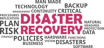 Word cloud - disaster recovery Royalty Free Stock Images