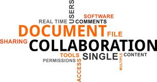 Word cloud - document collaboration Stock Photo