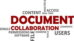 Word cloud - document collaboration Royalty Free Stock Photography
