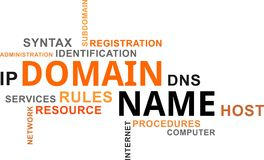 Word cloud - domain name Royalty Free Stock Image