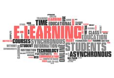 Word Cloud E-Learning. Word Cloud with E-Learning related tags Stock Photography