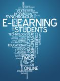 Word Cloud E-Learning. Word Cloud with E-Learning related tags Stock Images