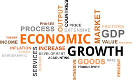 Word cloud - economic growth Royalty Free Stock Image