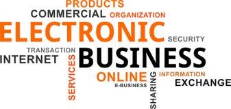 Word cloud - electronic business Stock Photos