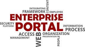 Word cloud - enterprise portal. A word cloud of enterprise portal related items Royalty Free Stock Image