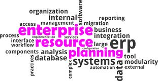 Word cloud - enterprise resource planning Stock Photo