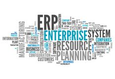Word Cloud Enterprise Resource Planning. Word Cloud with Enterprise Resource Planning related tags Stock Images