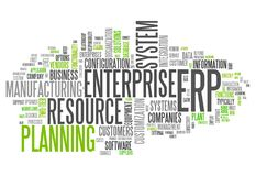 Word Cloud Enterprise Resource Planning. Word Cloud with Enterprise Resource Planning related tags Stock Photos