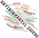 Word cloud for Environmental Issues. Abstract word cloud for Environmental Issues with related tags and terms Royalty Free Stock Photography