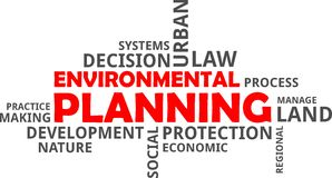 Word cloud - environmental planning Royalty Free Stock Photo