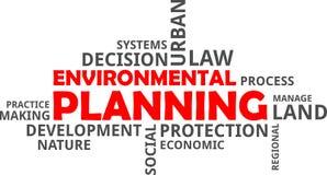 Word cloud - environmental planning royalty free stock photo