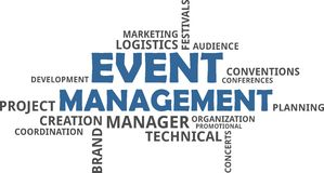 Word cloud - event management Stock Photo