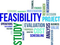 Word cloud - feasibility study Royalty Free Stock Photo