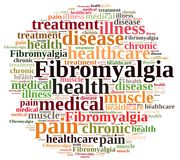 Word cloud on fibromyalgia. Illustration with word cloud on fibromyalgia Stock Images