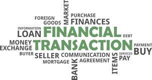 Word cloud - financial transaction Stock Photos