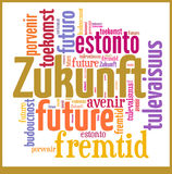 Word Cloud Future in different languages Stock Images