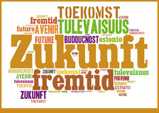 Word Cloud Future in different languages Royalty Free Stock Image