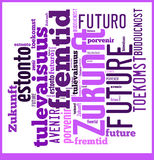 Word Cloud Future in different languages Royalty Free Stock Photos