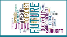 Word Cloud Future in different languages Royalty Free Stock Photo
