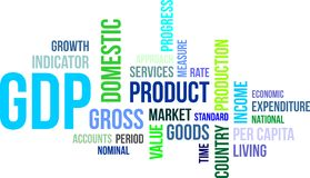 Word cloud - gdp Stock Image