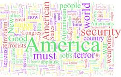 Word Cloud: George W. Bush Stock Images