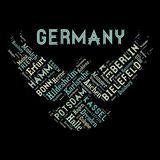 Word cloud as background. Word cloud of the Germany cities as background Royalty Free Stock Photo