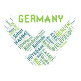 Word cloud as background. Word cloud of the Germany cities as background Stock Photos