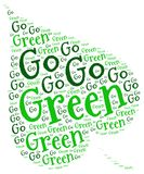 GO GREEN ECOLOGY. Word cloud go green ecology environment natural concept Stock Photography