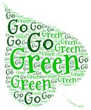 GO GREEN ECOLOGY. Word cloud go green ecology environment natural concept Royalty Free Stock Images