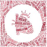 Word cloud heart disease related Royalty Free Stock Images