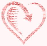 Word cloud I love mom. I love mom word cloud concept Royalty Free Stock Photos