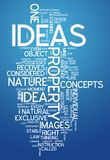 Word Cloud Ideas. Word Cloud with Ideas related tags Stock Photo