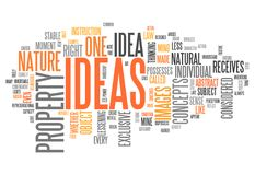 Word Cloud Ideas. Word Cloud with Ideas related tags Royalty Free Stock Image