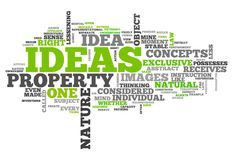 Word Cloud Ideas. Word Cloud with Ideas related tags Stock Image
