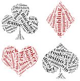 Word cloud illustration gambling related Royalty Free Stock Images