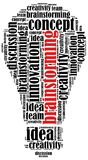 Word cloud illustration related to brainstorming Royalty Free Stock Photo