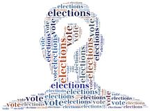 Word cloud illustration related to elections or voting Royalty Free Stock Photos
