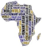 Word cloud illustration related to humanitarian aid Royalty Free Stock Photo