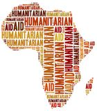 Word cloud illustration related to humanitarian aid Royalty Free Stock Photos