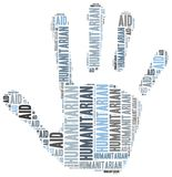 Word cloud illustration related to humanitarian aid. Or humanitarianism Stock Photography