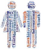 Word cloud illustration related to International Youth Day Royalty Free Stock Image